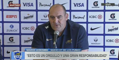 Mario Ledesma asumió como Head Coach de Los Pumas