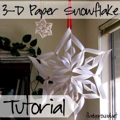 DIY: 3-D Paper Snowflakes