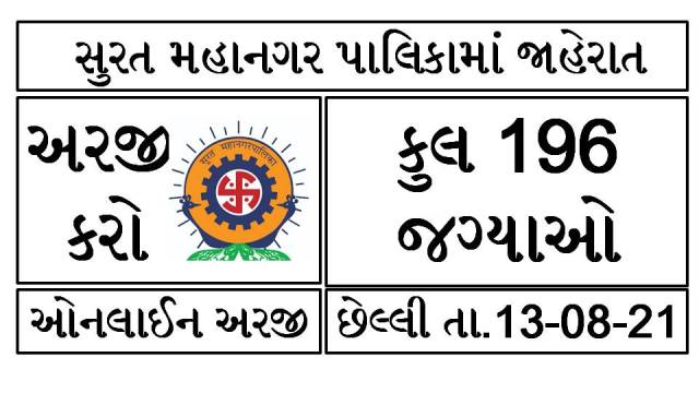 Surat Municipal Corporation Recruitment 2021 Posts @suratmunicipal.gov.in