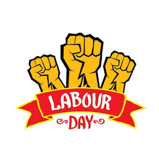 Strong hand of working people on may day