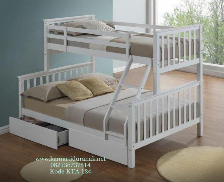model tempat tidur susun dari kayu 4