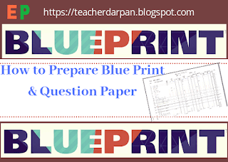 Blue print, Neel patra, question paper kaise bnaye
