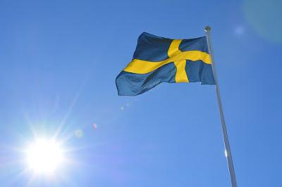 Sveriges flagga på nationaldagen