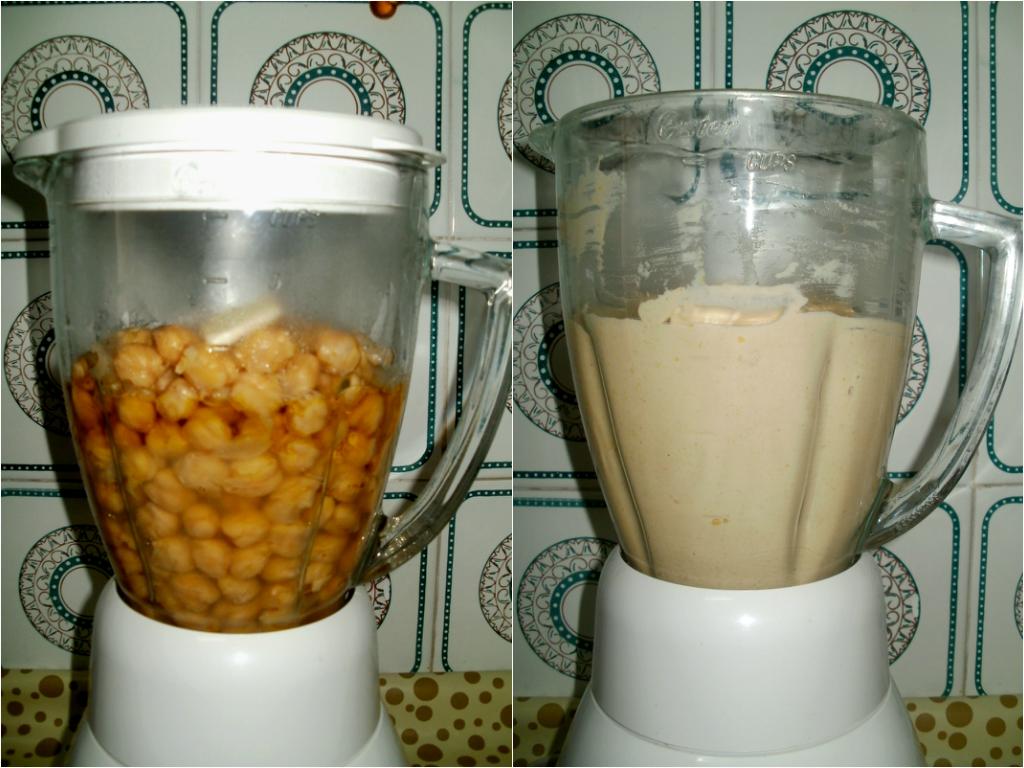 Preparación hummus