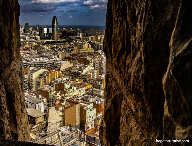 Barcelona vista de uma torre da Basílica da Sagrada Família