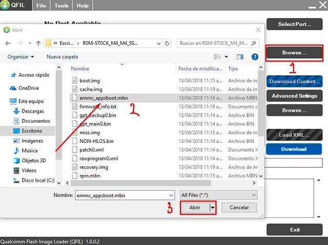 buscar el archivo programmer path