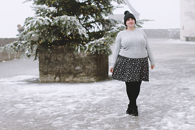 Plus size grey jumper