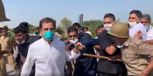 राहुल-प्रियंका को हाथरस जाने से रोका | गांव को छावनी बनाया गया