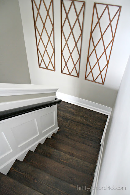 Wood stairs and landing