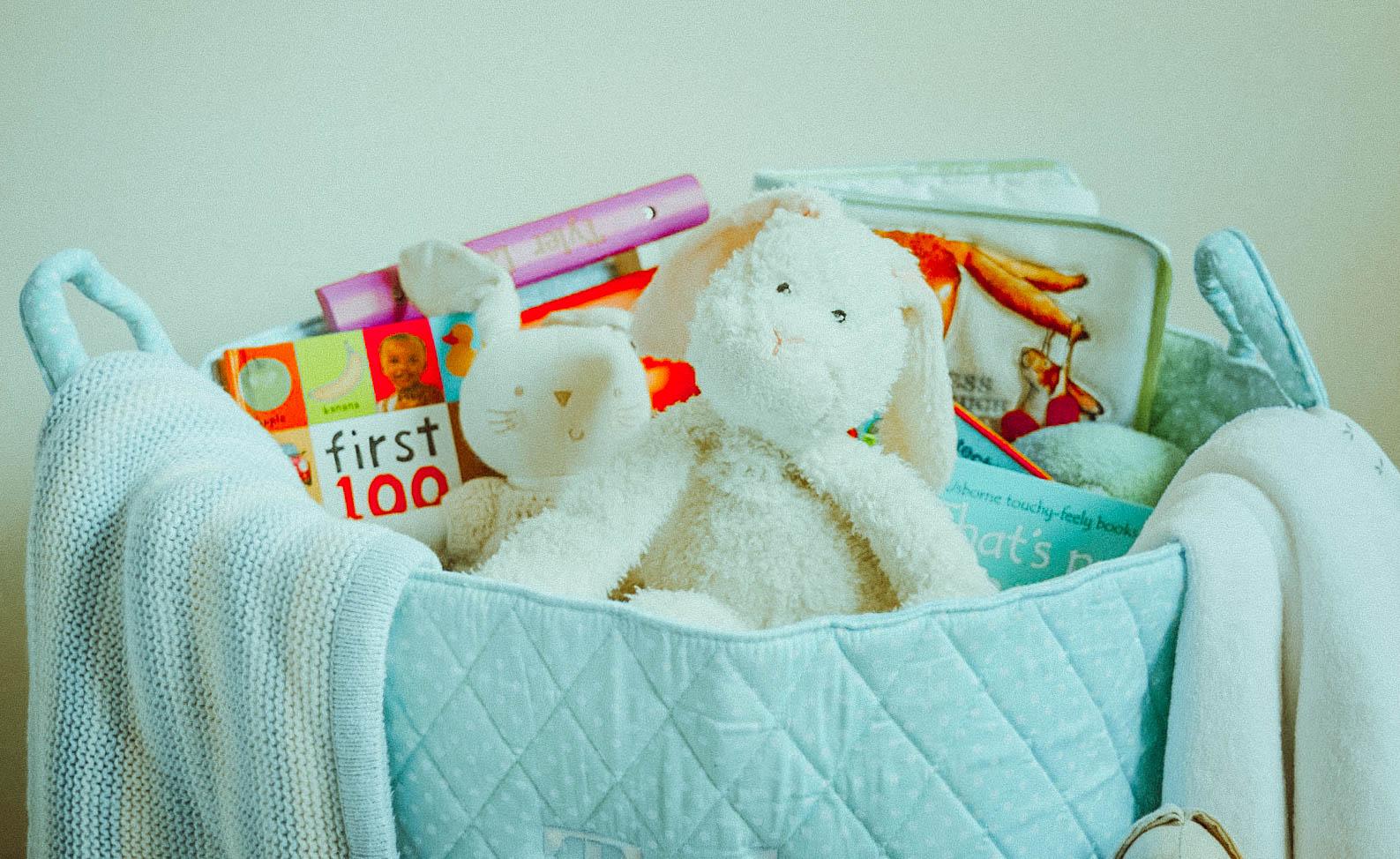 Storahe basket full of toys