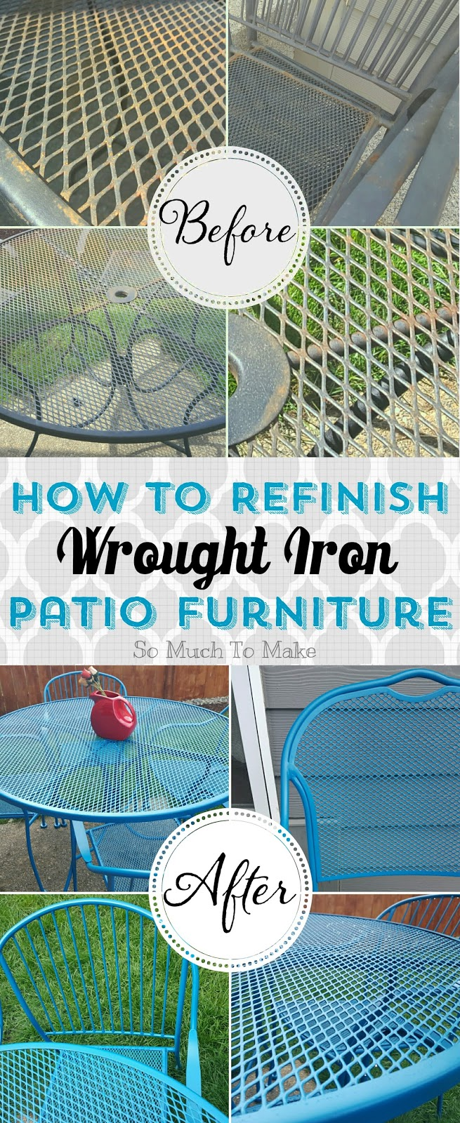 how to refinish wrought iron patio furniture so much to make. Black Bedroom Furniture Sets. Home Design Ideas