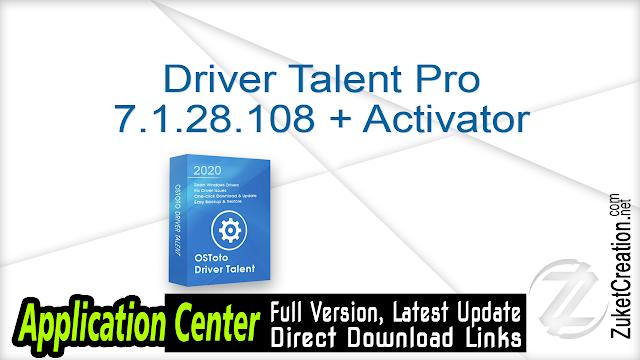 Driver Talent Pro 7.1.28.108 + Activator