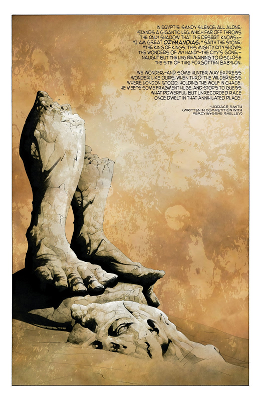 Jae Lee illustre Ozymandias d'Horace Smith, Before Watchmen