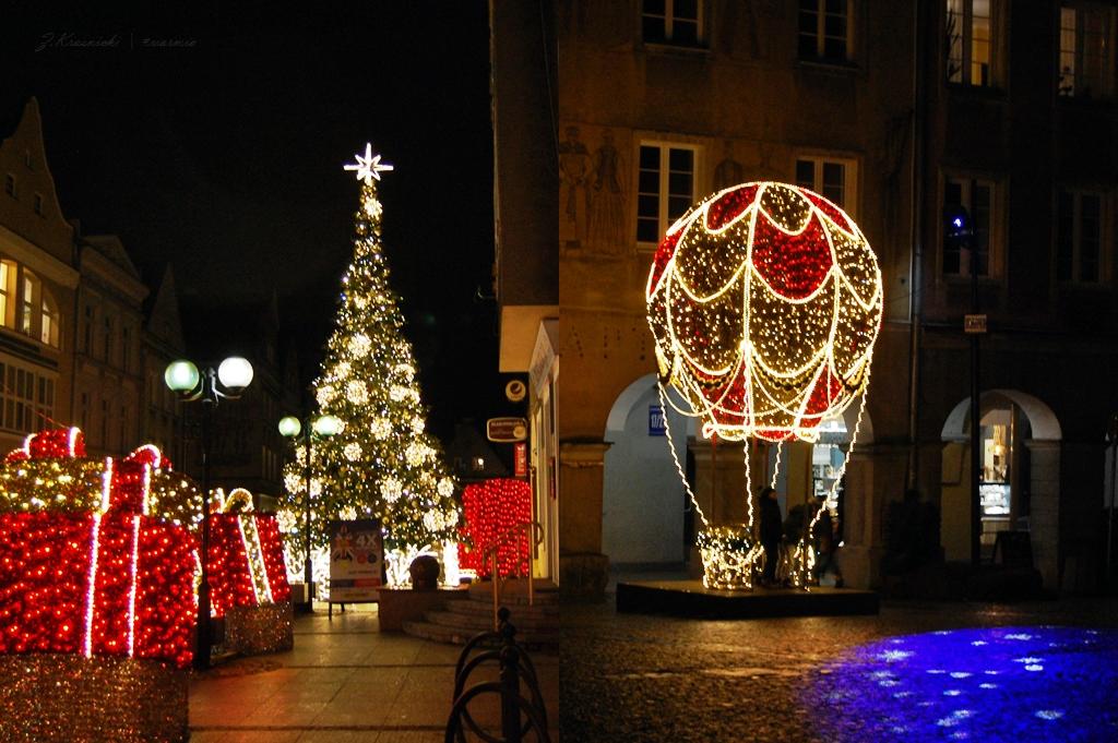 Iluminacje w Olsztynie, świąteczna choinka na Starym Mieście