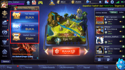 Cara Mendapatkan Battle Point Mobile Legends