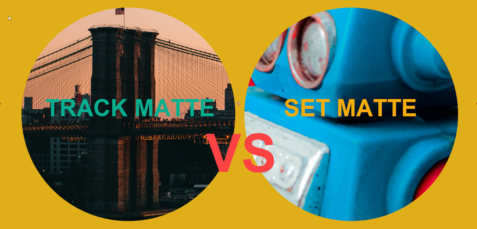Track matte VS Set matte H