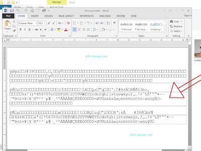 Cara mengembalikan  File JPG yang dibuka dengan Word