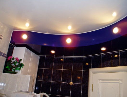25 cool bathroom lighting ideas and ceiling lights - Lights used in false ceiling ...
