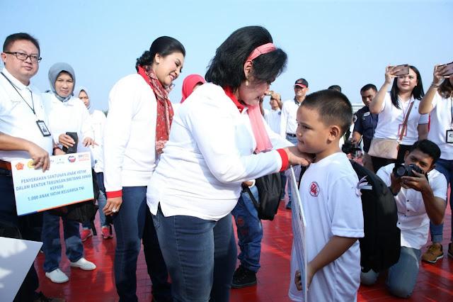 Ketum Dharma Pertiwi Wisata Kejuangan Bersama Putra-Putri Prajurit TNI