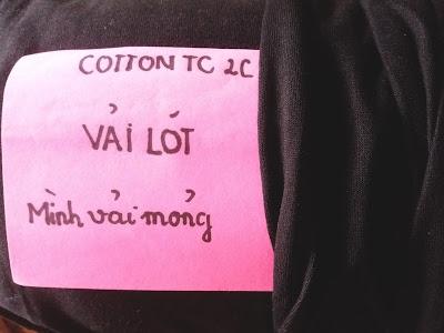 cotton 2 chiều vải lót, mình vải mỏng