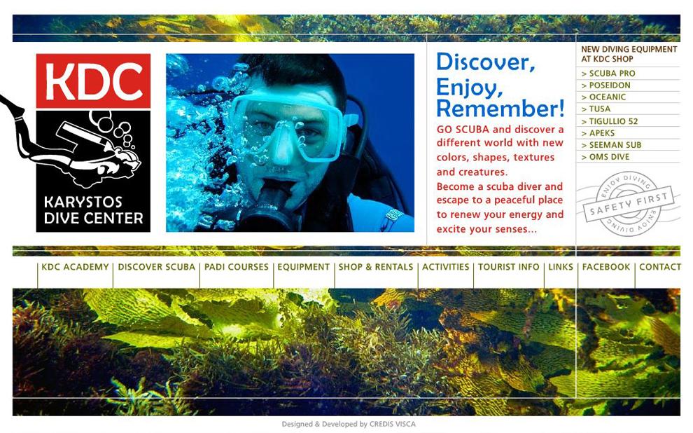 Concept, Branding, Λογότυπο, Γραφικά, Website και Επικοινωνία για το Πιστοποιημένο Καταδυτικό Κέντρο KDC στην Κάρυστο