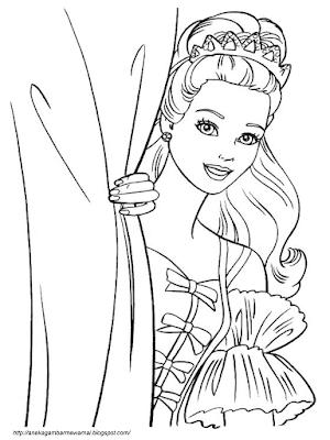 Gambar Mewarnai Barbie (3)