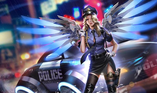 Overwatch Officer Mercy Wallpaper Engine