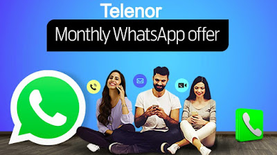 Telenor Monthly Whatsapp Package only Rs.5 incl. tax