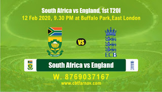 Today Match Prediction South Africa vs England 1st T20 100% Sure