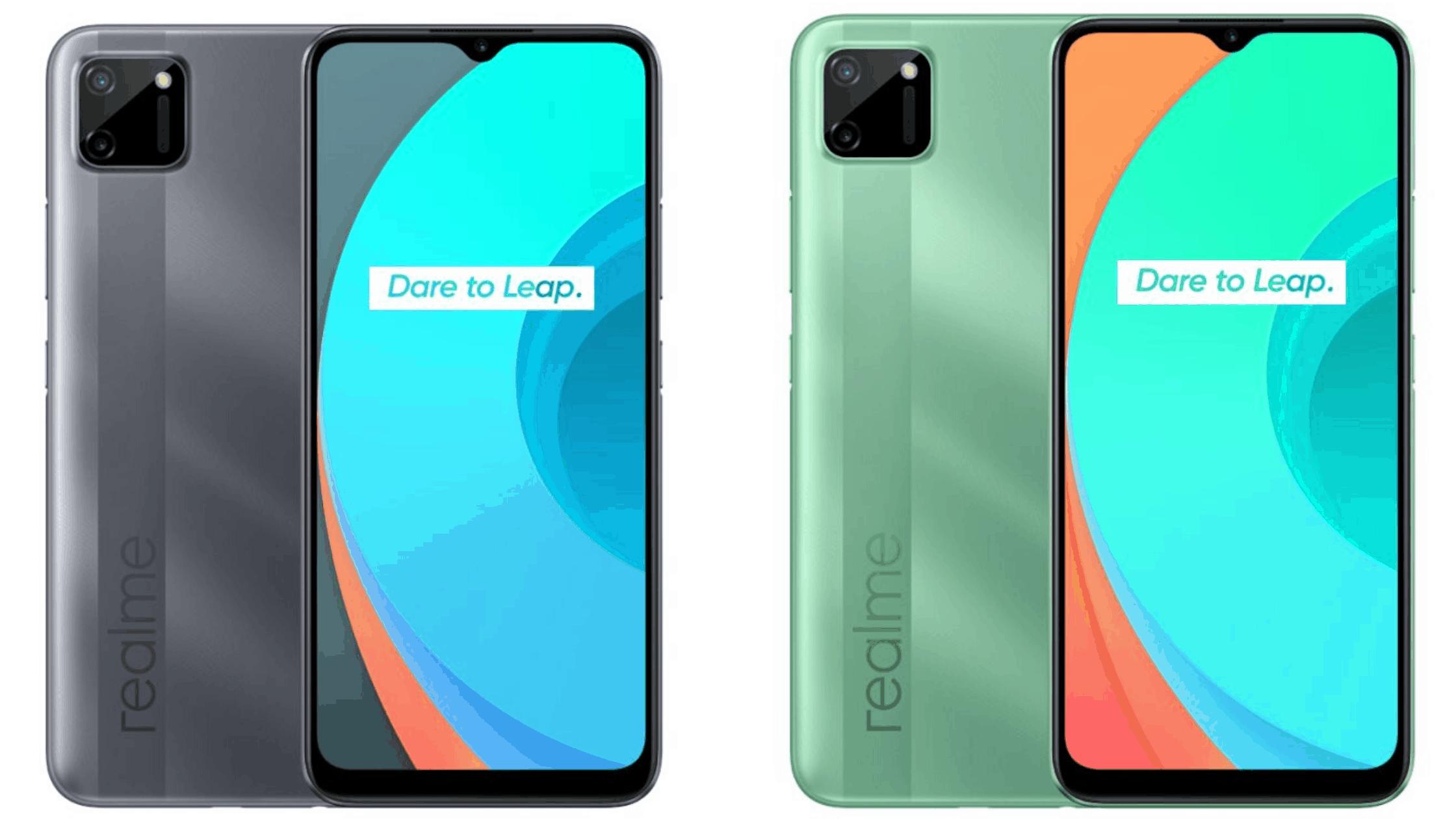 """Realme C11 memiliki desain bodi belakang baru yang disebut """"Geometric Design"""". Dengan permukaan yang dibuat bertekstur seperti relame C2, tetapi desain kameranya sudah sangat berbeda."""