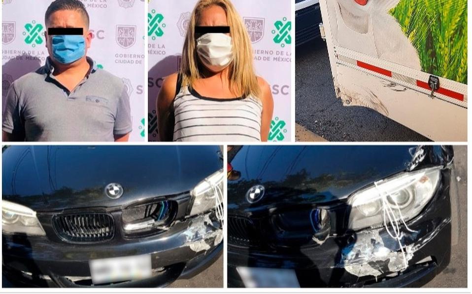 Detienen a pareja que chocaba coches (montachoques) para extorsionar en la Ciudad de México