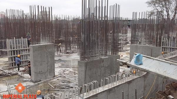 Tiến độ xây dựng imperial Plaza