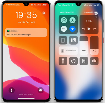 Lockscreen Themes IOS Light UI