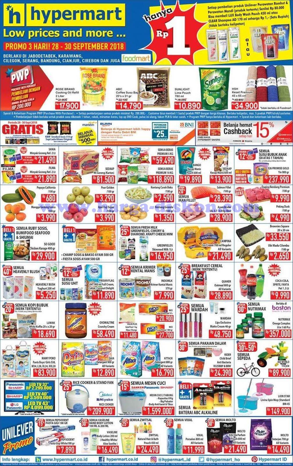 Katalog Promo JSM Hypermart Terbaru Minggu Ini 28-30 September 2018