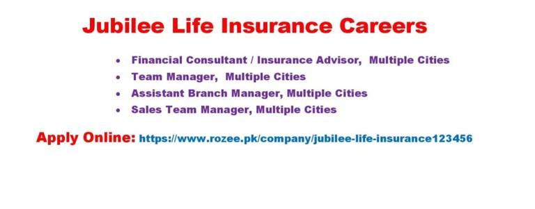 Jubilee Life Insurance Jobs 2021 – Apply Online via Rozee.pk