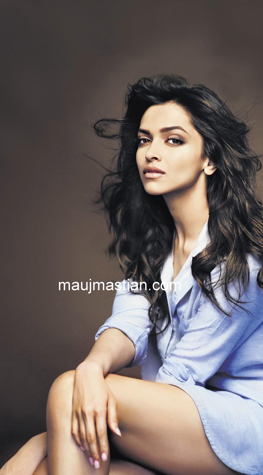 Deepika Padukone Hot Thigs Show In Shirt Sexy Pose - Uhq -9631