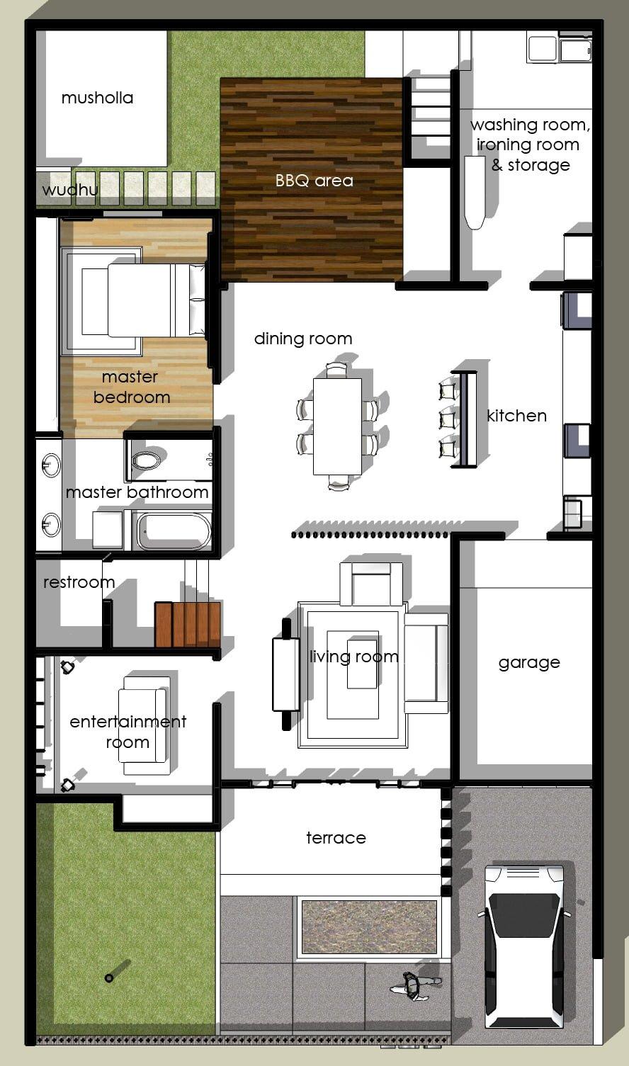 580+ Desain Rumah Minimalis Ada Mushola HD
