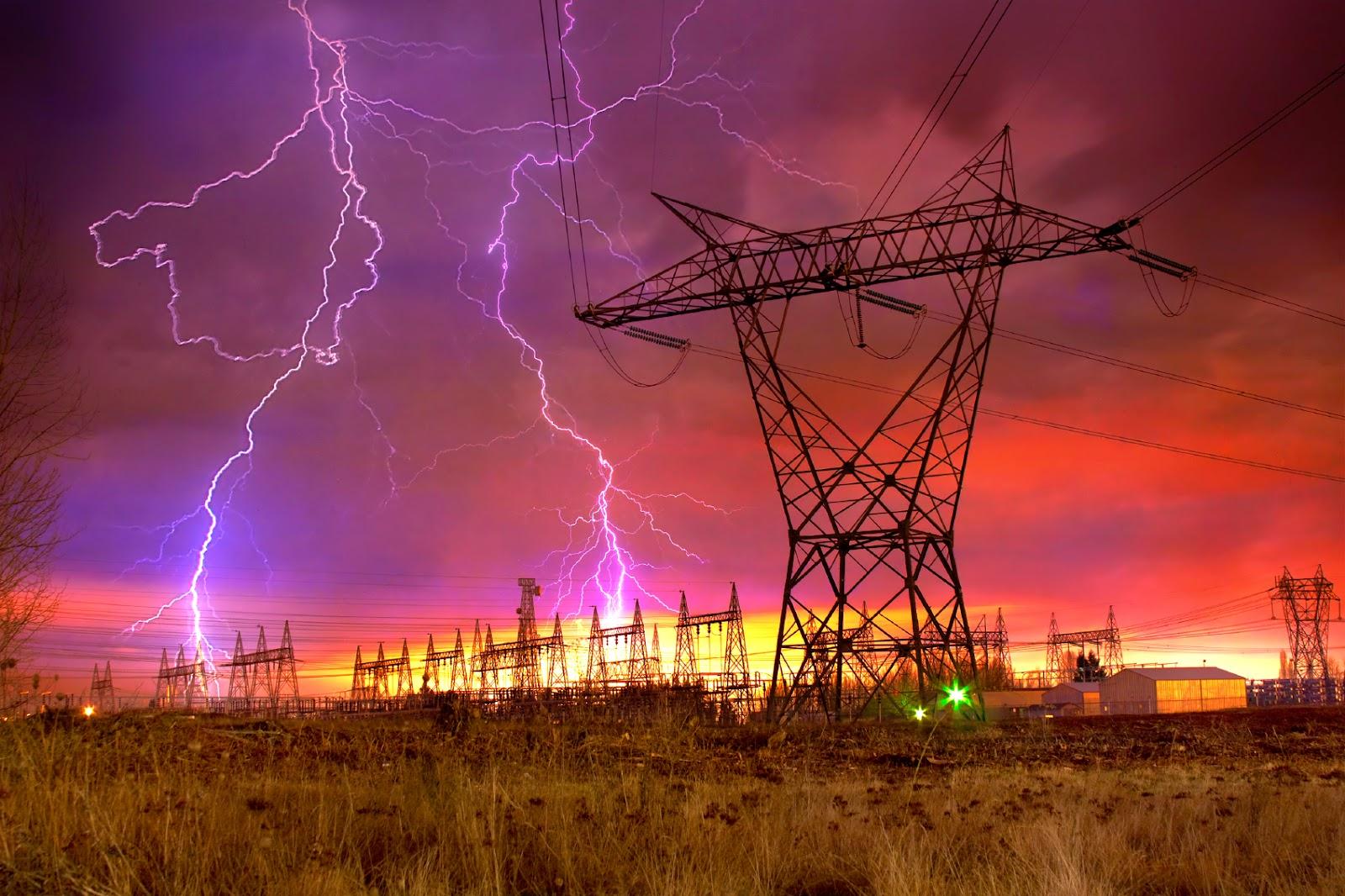 Amazing lightning show