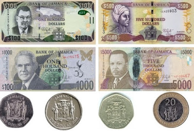 Countries and Currency Jamaican Dollar