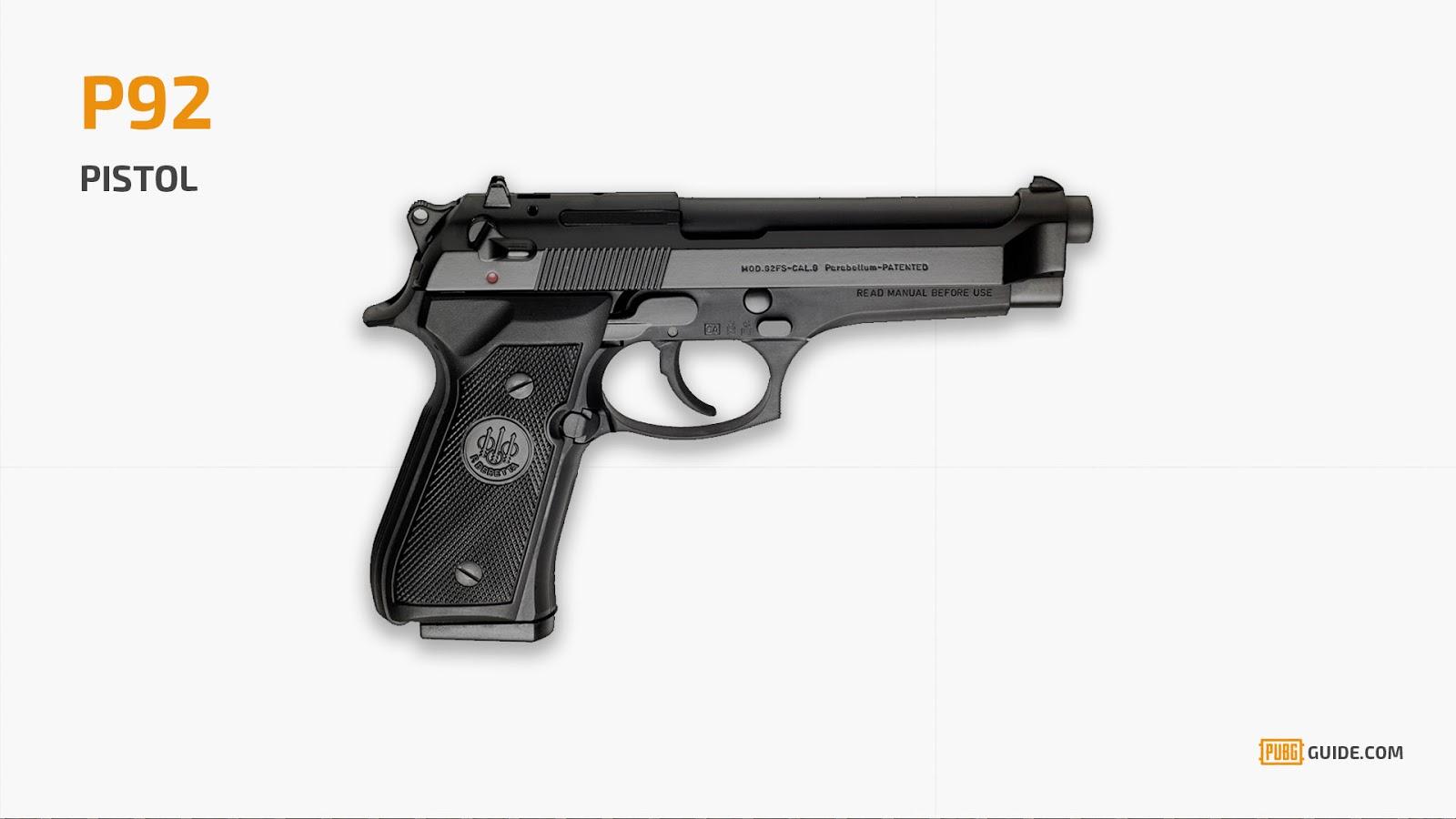 0bbf66125 سلاح P92 في لعبة ببجي – لعبة PUBG