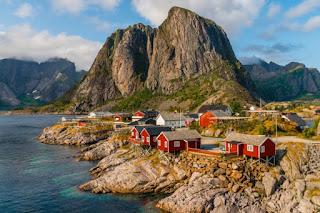 casinhas vermelhas na noruega
