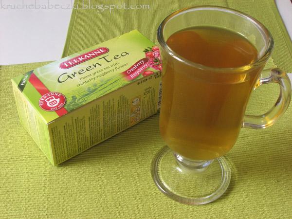 Herbata zielona z żurawiną i maliną od Teekanne