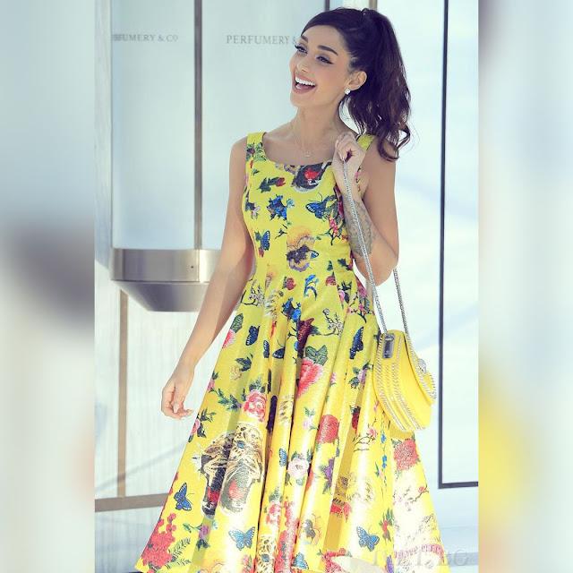 Αμάνικο μίντι χρωματιστό φόρεμα DELORES
