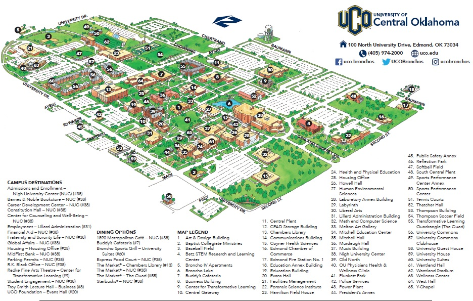 uco edmond campus map Ethical Practice Map