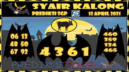 Prediksi Kalong SGP Senin 12-Apr-2021