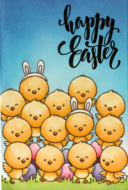 Sunny Studio Stamps: Chickie Baby Easter Cards by Karin Åkesdotter