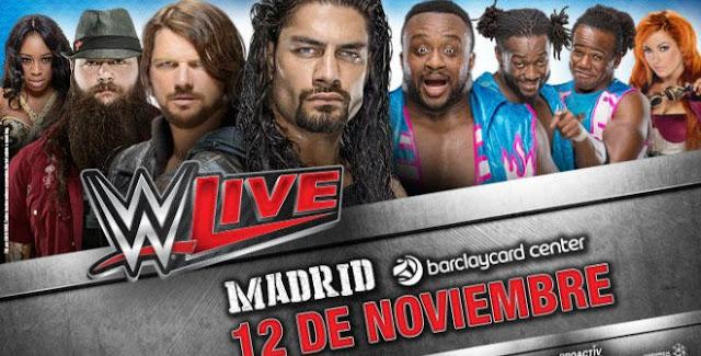 WWE Live 2016 en Barclaycard Center. 12 de noviembre