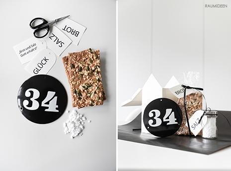 Hausnummernschild als Geschenkidee!