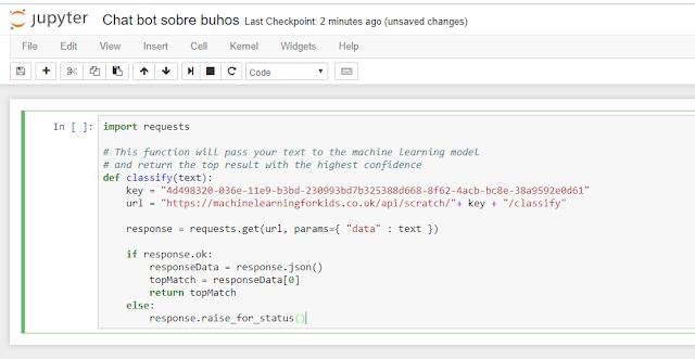 """Pegamos"""" el código que copiamos antes-- carga de librería requests y definición de la función classify."""
