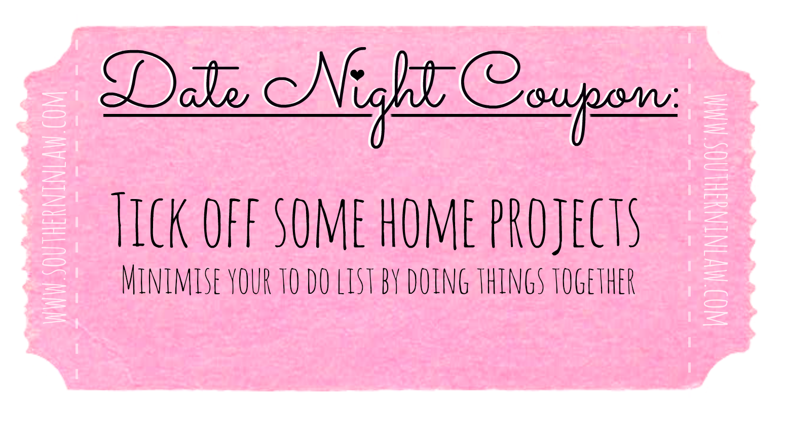 Affordable Date Ideas - Cheap Date Ideas Coupons - Tick off some home projects
